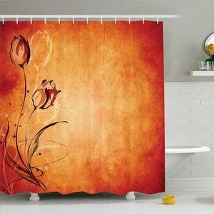 Shower Curtain Vintage Rose Bloom Painting Print